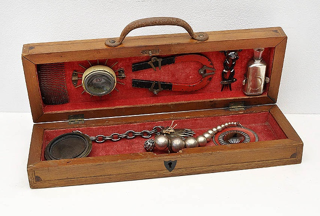 Beverly Rayner, A Traveling Mesmerist's Toolkit, Museum of Mesmerism