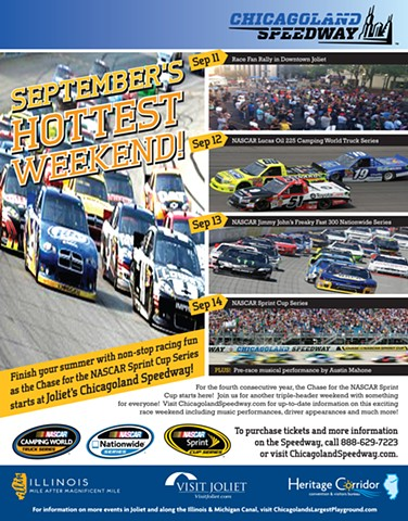 Chicagoland Speedway NASCAR Print/Web Promo