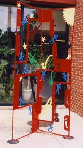 Painted Steel Exterior Sculpture