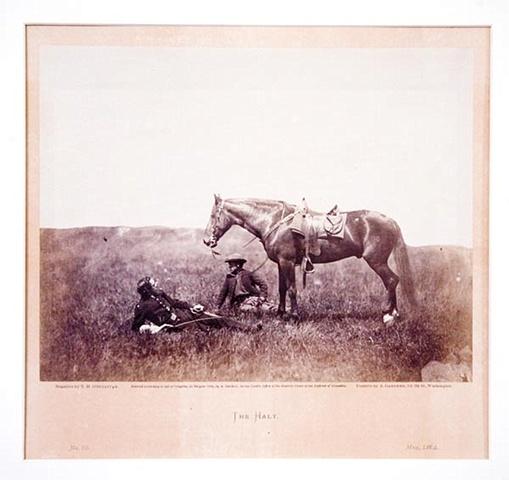 THE HALT (CAPT. HARRY PAGE, U.S. CAVALRY), 1864