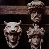 "FIVE ORNAMENTAL STONE HEADS FOR THE ""NEW"" PARIS OPERA, 1872"