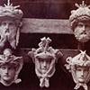 FIVE ORNAMENTAL HEADS TO DECORATE LE NOUVEL OPERA DE PARIS, 1872