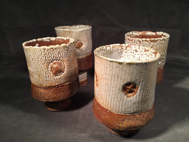 Stoneware group: Shino