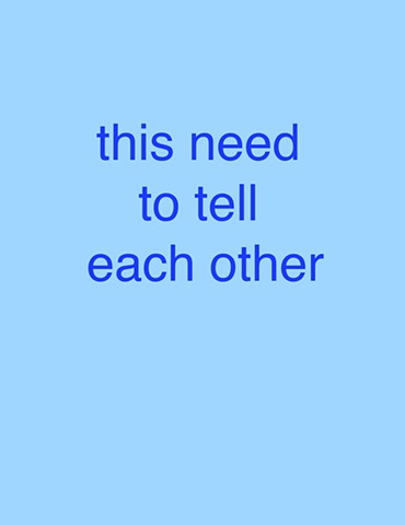 'this need to tell each other' from 'Falling'