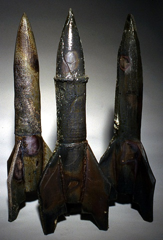 Three Wood Fired Rockets