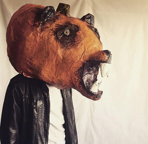 Paper Mache Animall Mash-up Pumkin Bear