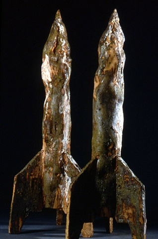 Pair of Rockets from Sculpture Center Show