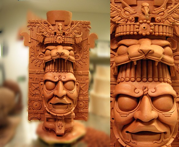 Invented Replica of ceremonial Mayan Vessel