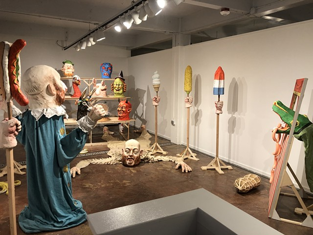 "Installation view of ""Forest for the Trees"""