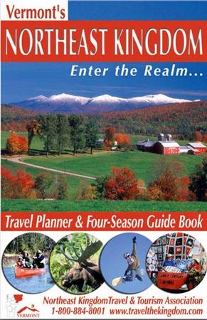 FOUR SEASON GUIDE BOOK (cover) - Vermont's Northeast Kingdom Region