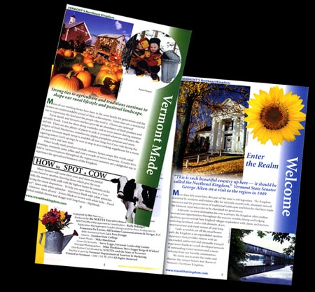FOUR SEASON GUIDE BOOK (inside pages) - Vermont's Northeast Kingdom Region