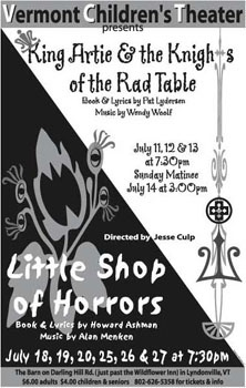 POSTER FOR VERMONT CHILDREN'S THEATER PERFORMANCES