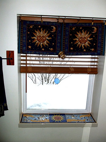 CELESTIAL WINDOW SILL (in situ)