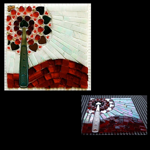 Contribution to HEARTISTRY, a collaborative mosaic mural project.