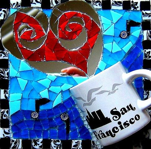Contribution to SWIRLENDIPITY 1, collaboarative community mosaic mural project
