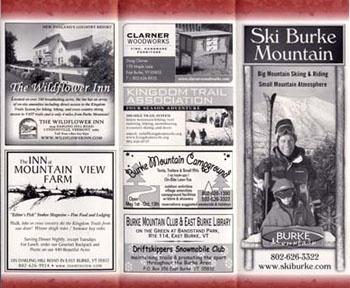 ADVERTISING INSERT FOR BURKE AREA CHAMBER OF COMMERCE (inside panels)