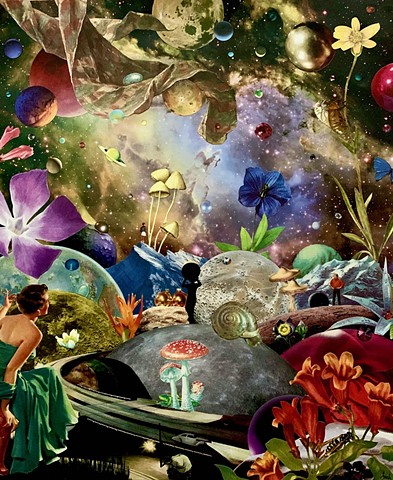 Everyone is seeking something but will the find what they're looking for? Here they are surrounded by a maze of flowers, planets, and mystery. A dreamscape for only the bravest.
