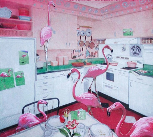 Flamingos in the Kitchen