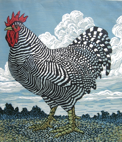 Rooster and Clouds