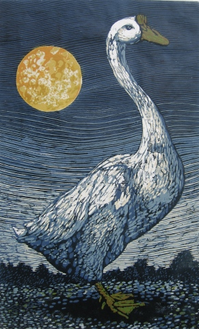 Goose and Moon