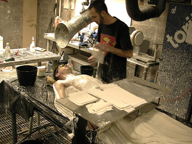 Me being cast in plaster in 1999