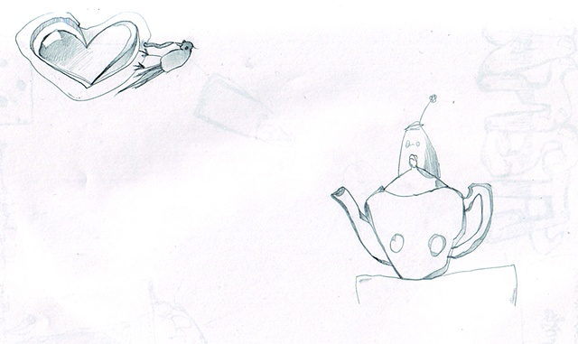 Teapot & Love bird