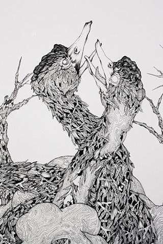 Dreams Conjured on the Pike Bone Kantele (detail)
