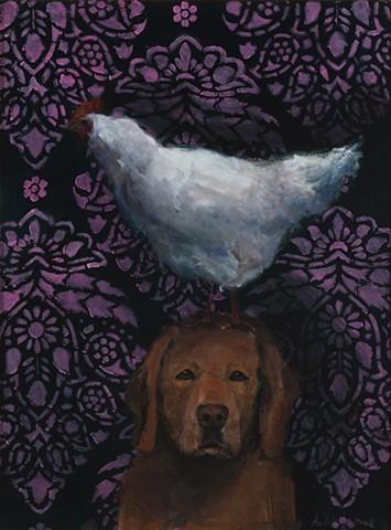 Labrador with Chicken