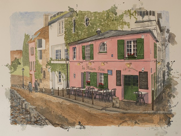 Laura Moore watercolor France Touch of France