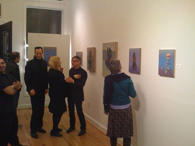 Richard Deutsch with guests from Houston Opening night, March 13th