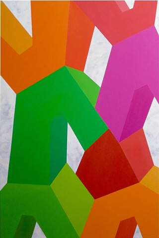 #lauramooreart @lauramooreart geometric art hardedge painting dallas