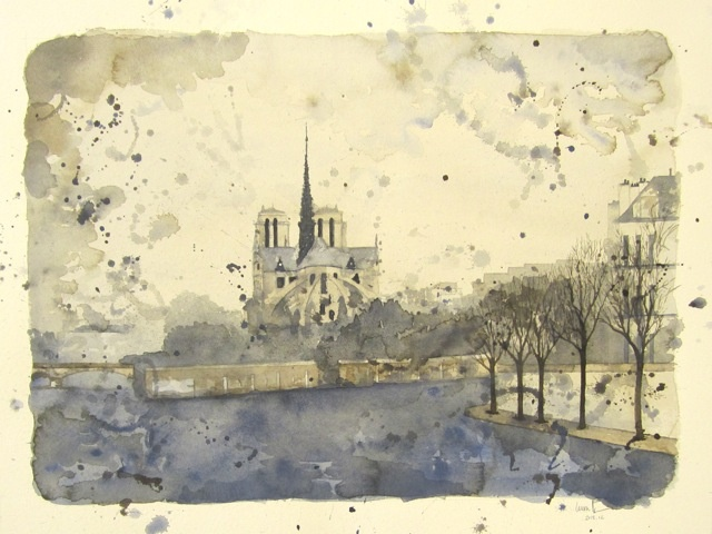 fine art mckinney texas American Church in Paris Laura Moore Artist in Residence