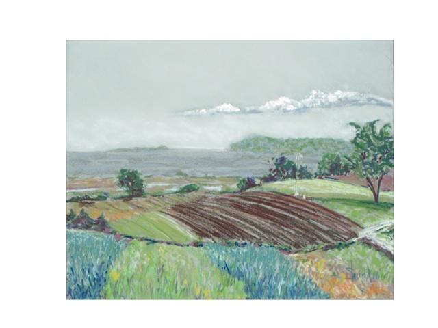 landscape pastel of RI