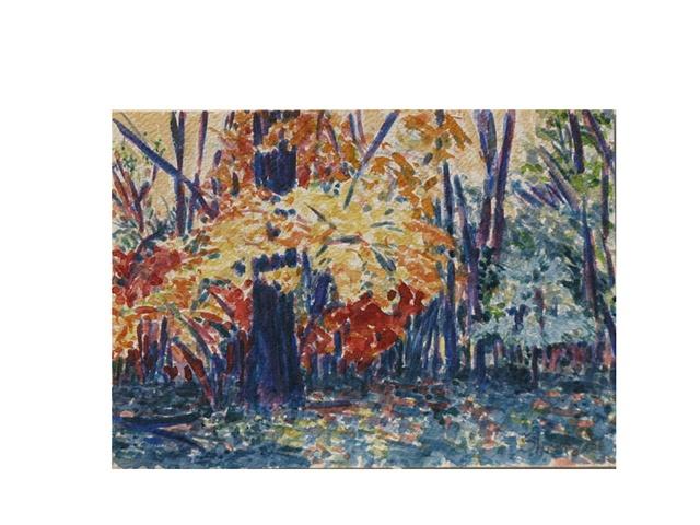 Blue Tree Fall