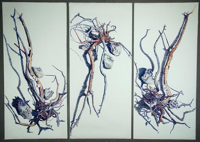 Conversations,  triptych