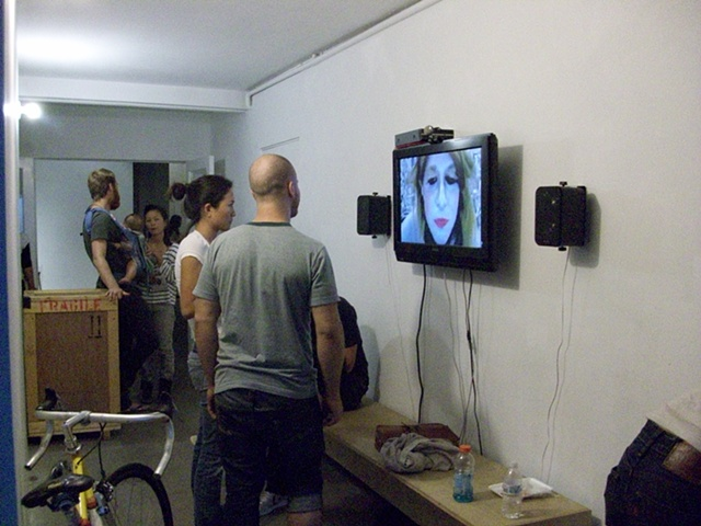 Live Video Chat from Sabina Lee Gallery to Human Resources Gallery, Los Angeles