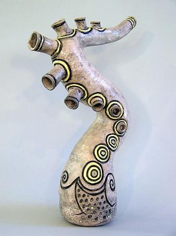ceramic sculpture wind instrument