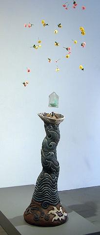 ceramic mixed media sculpture