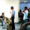 Timmy and the Mopes play at Edge Gallery during Interlude.