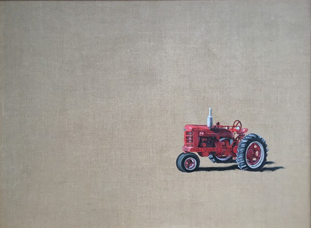 Farmall. Vintage tractor. Oil painting. Adam Umbach.