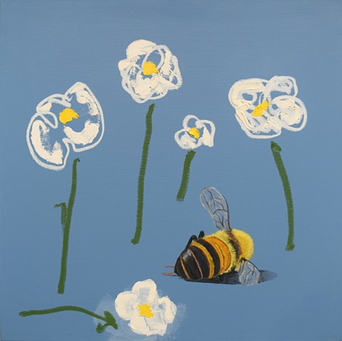 Lazy Sunday. Mr Bee. Oil painting. Adam Umbach.