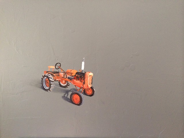 Alice Chalmers. Vintage tractor. Oil painting. Adam Umbach.