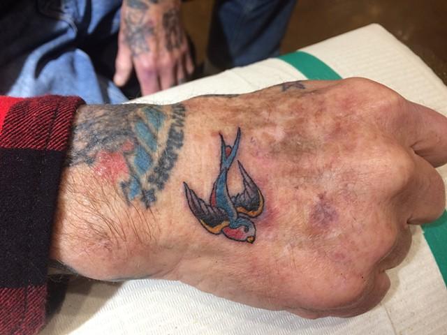 swallow tattoo, Provincetown tattoo, Cape Cod tattoo, Ptown tattoo, truro, wellfleet, custom tattoo, coastline tattoo
