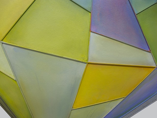 Geometric, dimension, movement, float, color, paint, oil paint, shape, sculpture, invention