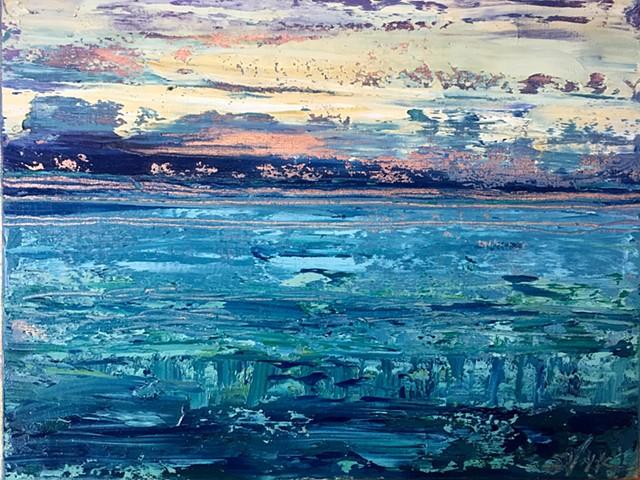 Sunrise on Copperleaf Abstract