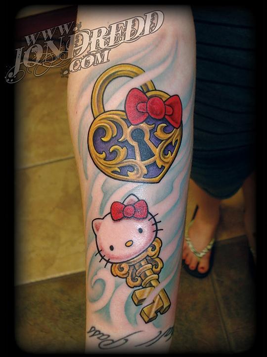 6c79915ae8c4f key and lock hello kitty tattoos crucial tattoo studio salisbury maryland  ocean city md delaware