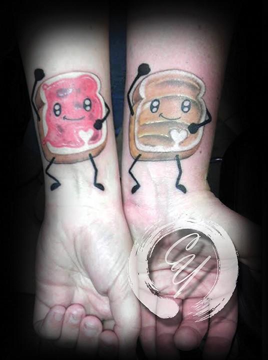 Crucial Tattoo Studio Maryland Custom Tattoos Peanut Butter Jelly