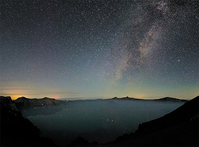 Early Morning Milky Way over Wizard Island  Aug 2017