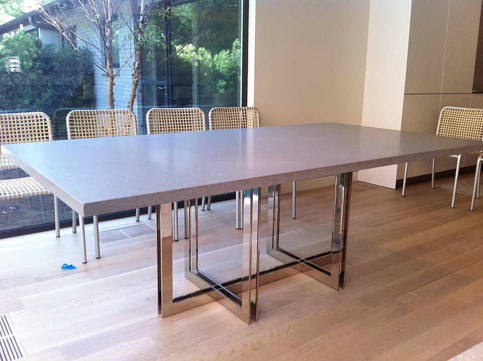 Robert N Wohlfeld Inc Oscar Dining Table W Caesarstone - Stone top rectangular dining table