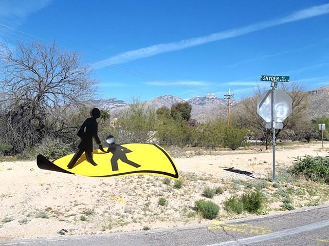 public art and outdoor sculpture in steel